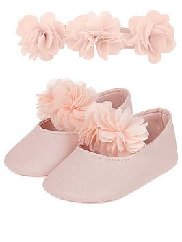monsoon-baby-girls-macaroon-bootie-and-hairband-set-pink