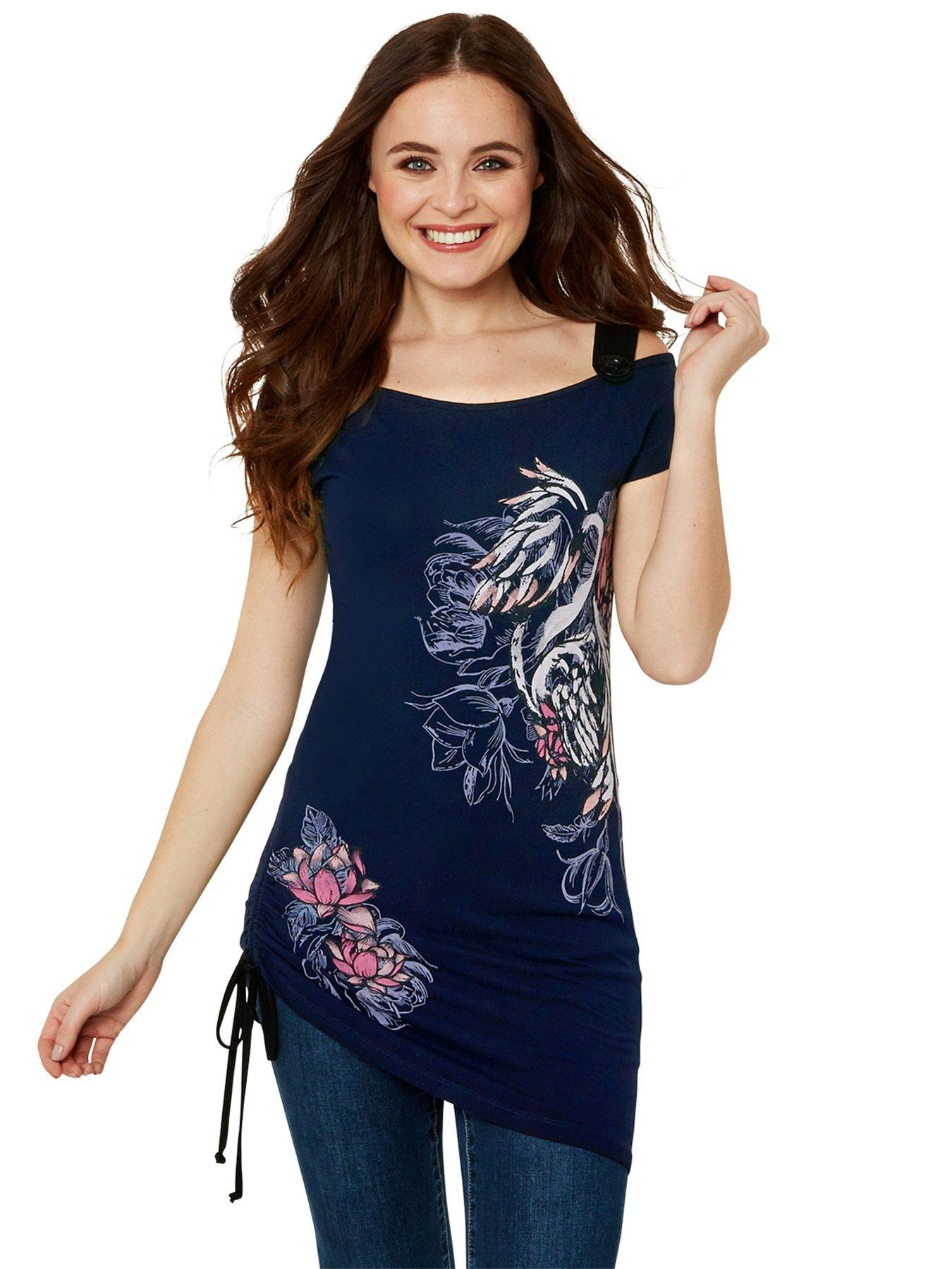 Joe Browns ladies top blouse plus size 26 navy floral /'our favourite/' sleeveless
