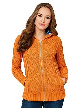 Joe Browns Joe Browns Funky Cable Knit Hood Picture