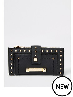 river-island-stud-edge-purse-black