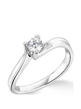Love DIAMOND Love Diamond 9Ct White Gold 4 Claw Twist Design 0.25Ct  ... Picture