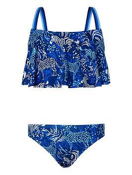 Monsoon Monsoon Girls S.E.W Sadie Zebra Bikini - Blue Picture