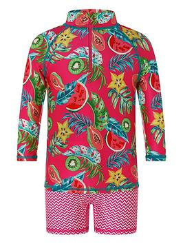 Monsoon Monsoon Girls S.E.W Inna 2 Pack Sunsafe Set - Pink Picture