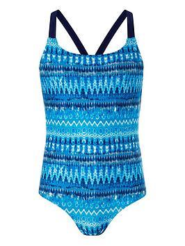 Monsoon Monsoon Girls Storm S.E.W Cypress Tie Dye Swimsuit - Blue Picture