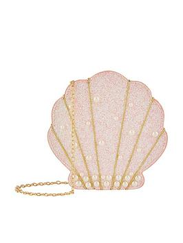 Monsoon Monsoon Girls Livia Pearl Shell Bag - Pink Picture