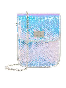 Monsoon Monsoon Girls Sylvie Hollogram Bumbag - Silver Picture