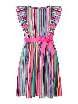 Monsoon Monsoon Girls S.E.W Ophilia Stripe Dress - Multi Picture