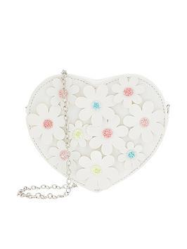 Monsoon Monsoon Girls Daisy Chain Heart Bag - White Picture