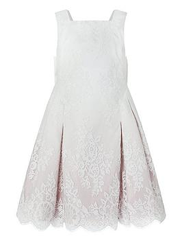 Monsoon Monsoon Girls Victoria Ombre Lace Dress - Pink Picture