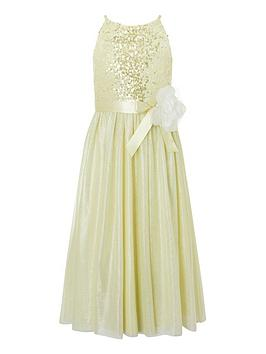 Monsoon Monsoon Girls Truth Sequin Maxi Dress - Lemon Picture