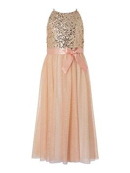 Monsoon Monsoon Girls Truth Sequin Maxi Dress - Pink Picture