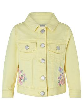 Monsoon  Baby Girls Yuki Denim Jacket - Yellow