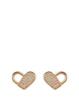 Boss Boss Boss Soulmate Heartlock Swavorski Crystal Earrings Picture