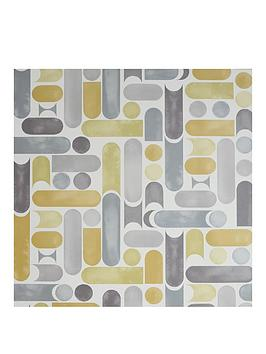 ARTHOUSE  Arthouse Connection Geo Ochre & Grey Wallpaper