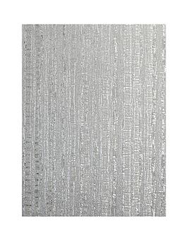 ARTHOUSE Arthouse Luxe Industrial Stripe Silver Vinyl Wallpaper Picture