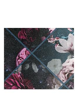 ARTHOUSE Arthouse Floral Collage Glitter Vinyl Wallpaper Picture