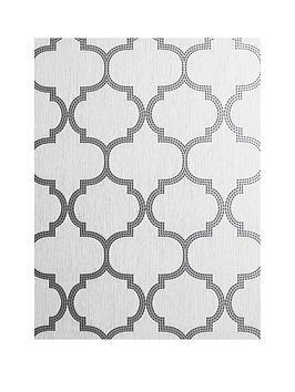 arthouse-beaded-trellis-grey-metallic-vinyl-wallpaper