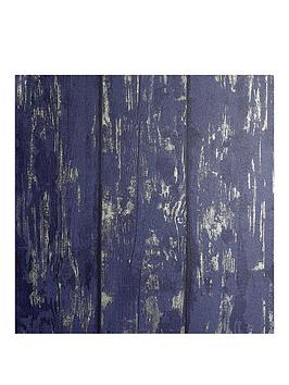 ARTHOUSE Arthouse Metallic Washed Wood Wallpaper Picture
