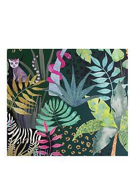ARTHOUSE Arthouse Hidden Jungle Emerald Wallpaper Picture