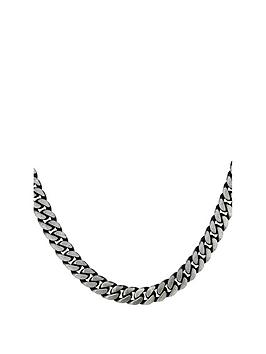 the-love-silver-collection-sterling-silver-oxidized-grey-curb-chain-necklace