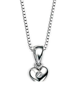 D for Diamond D For Diamond D For Diamond Sterling Silver Childrens Heart  ... Picture