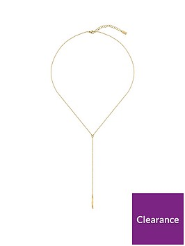 boss-signature-y-necklace-in-yellow-gold-plated-stainless-steel