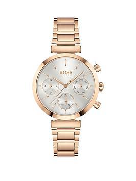 Boss Boss Boss Flawless Rose Gold Bracelet White Dial Watch Picture