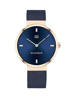 Tommy Hilfiger Tommy Hilfiger Liberty Navy Stainless Steel Mesh Navy  ... Picture
