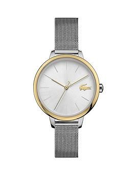 Lacoste Lacoste Lacoste Bi Colour Stainless Steel Mesh Strap 34Mm White  ... Picture