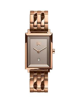 MVMT Mvmt Mvmt Signature Square Rose Gold Stainless Steel Bracelet With  ... Picture
