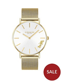 coach-coach-perry-gold-stainless-steel-mesh-strap-ladies-watch