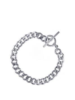 the-love-silver-collection-sterling-silver-curb-t-bar-bracelet