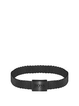 Boss Boss Boss Mesh Essentials Black Ip Mesh Bracelet Picture