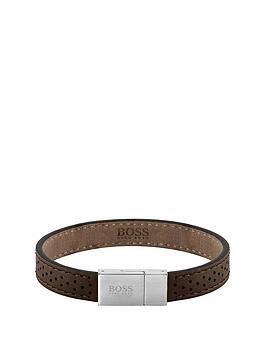 boss-leather-essentials-braceletnbsp--brown