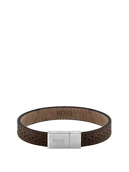 Boss Boss Leather Essentials Bracelet - Brown Picture