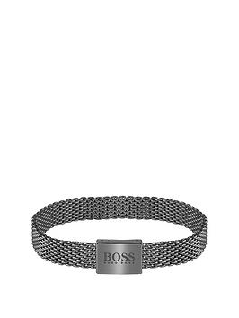 Boss Boss Boss Mesh Essentials Grey Ip Mesh Bracelet Picture