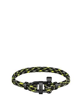 Boss Boss Boss Sailing Cord Black Ip D-Ring Bracelet Picture