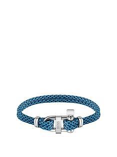 boss-boss-sailing-cord-blue-stainless-steel-d-ring-bracelet
