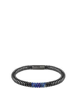 Boss Boss Boss Slice Magnetic Clasp Lapis And Hematite Beads Picture
