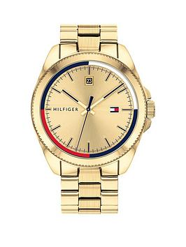 tommy-hilfiger-riley-gold-plated-stainless-steel-gold-sunray-dial-mens-watch