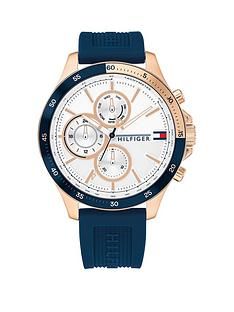 tommy-hilfiger-tommy-hilfiger-blue-silicone-strap-white-sunray-dial-mens-watch