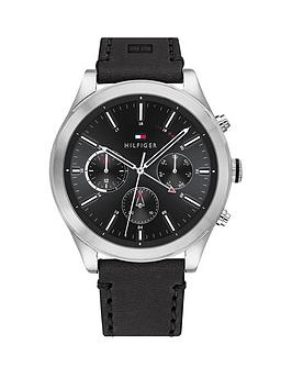 Tommy Hilfiger Tommy Hilfiger Tommy Hilfiger Ashton Black Leather Strap  ... Picture