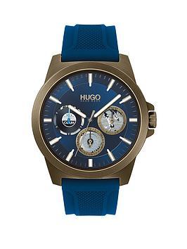 hugo-twist-blue-silicone-strap-blue-dial-mensnbspwatch