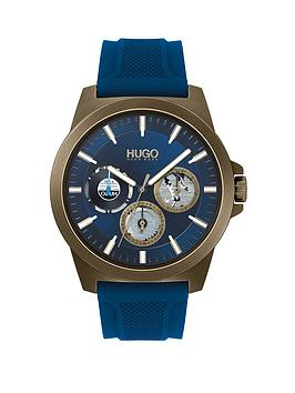 HUGO Hugo Twist Blue Silicone Strap Blue Dial Mens Watch Picture