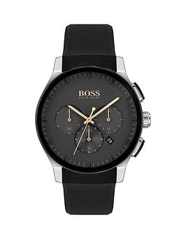 Boss  1513759 Peak Sport Lux Black Silicone Strap Chronograph Black Dial Watch