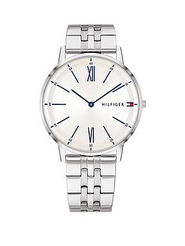Tommy Hilfiger Tommy Hilfiger Tommy Hilfiger Cooper Stainless Steel White  ... Picture