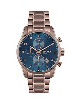 Boss Boss Boss Skymaster Sports Lux Coffee Stainless Steel Blue Dial  ... Picture