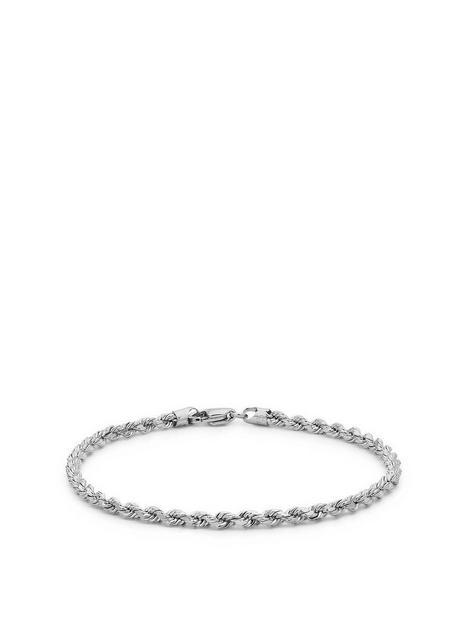 love-gold-9ct-white-gold-hollow-diamond-cut-rope-bracelet