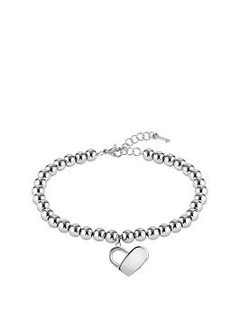Boss Boss Boss Stainless Steel Beads And Heartlock Bracelet Picture