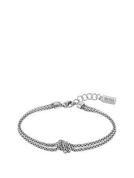 Boss Boss Boss Rosette Stainless Steel Mesh Knot Bracelet Picture